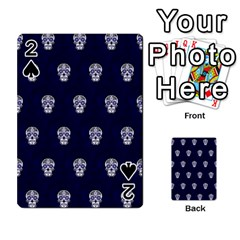 Skull Pattern Blue  Playing Cards 54 Designs
