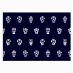 Skull Pattern Blue  Large Glasses Cloth by MoreColorsinLife
