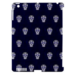 Skull Pattern Blue  Apple Ipad 3/4 Hardshell Case (compatible With Smart Cover) by MoreColorsinLife