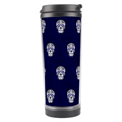 Skull Pattern Blue  Travel Tumblers by MoreColorsinLife