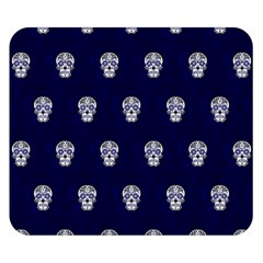 Skull Pattern Blue  Double Sided Flano Blanket (small)  by MoreColorsinLife