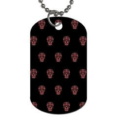 Skull Pattern Pink  Dog Tag (two Sides) by MoreColorsinLife