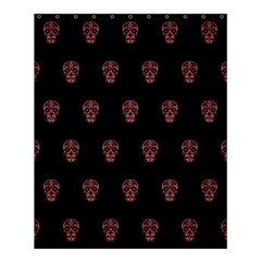 Skull Pattern Pink  Shower Curtain 60  X 72  (medium)  by MoreColorsinLife