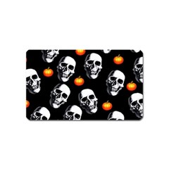 Skulls And Pumpkins Magnet (Name Card) by MoreColorsinLife