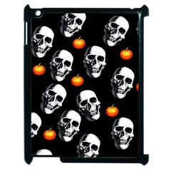 Skulls And Pumpkins Apple Ipad 2 Case (black) by MoreColorsinLife