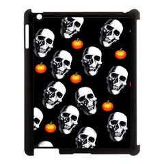Skulls And Pumpkins Apple Ipad 3/4 Case (black) by MoreColorsinLife