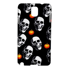 Skulls And Pumpkins Samsung Galaxy Note 3 N9005 Hardshell Case by MoreColorsinLife