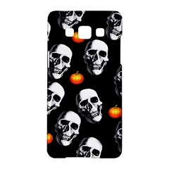 Skulls And Pumpkins Samsung Galaxy A5 Hardshell Case  by MoreColorsinLife