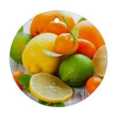 Citrus Fruits Round Ornament (two Sides)