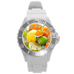 Citrus Fruits Round Plastic Sport Watch (l)