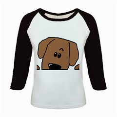 Peeping Dachshund Kids Baseball Jerseys