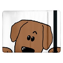 Peeping Dachshund Samsung Galaxy Tab Pro 12.2  Flip Case by TailWags