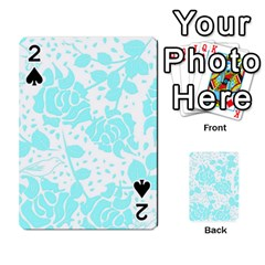 Floral Wallpaper Aqua Playing Cards 54 Designs