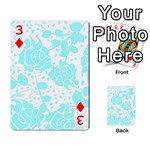 Floral Wallpaper Aqua Playing Cards 54 Designs  Front - Diamond3