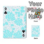 Floral Wallpaper Aqua Playing Cards 54 Designs  Front - Club9
