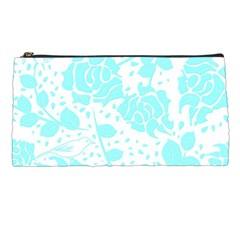 Floral Wallpaper Aqua Pencil Cases by ImpressiveMoments