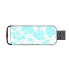 Floral Wallpaper Aqua Portable Usb Flash (one Side) by ImpressiveMoments
