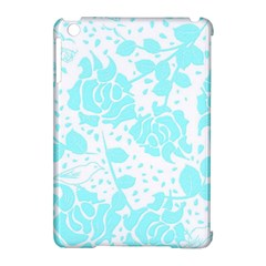 Floral Wallpaper Aqua Apple iPad Mini Hardshell Case (Compatible with Smart Cover) by ImpressiveMoments