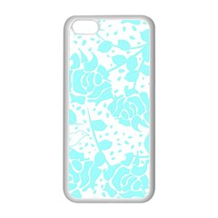 Floral Wallpaper Aqua Apple Iphone 5c Seamless Case (white) by ImpressiveMoments