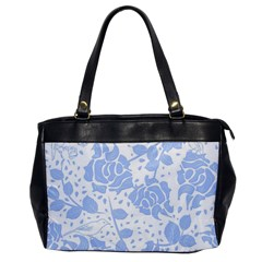 Floral Wallpaper Blue Office Handbags by ImpressiveMoments