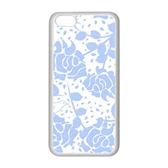 Floral Wallpaper Blue Apple Iphone 5c Seamless Case (white) by ImpressiveMoments