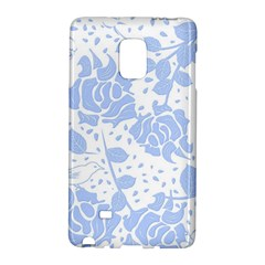 Floral Wallpaper Blue Galaxy Note Edge by ImpressiveMoments