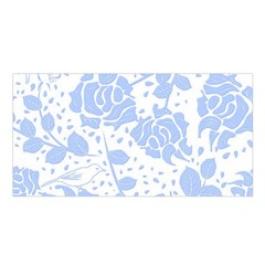 Floral Wallpaper Blue Satin Shawl