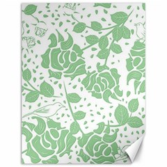 Floral Wallpaper Green Canvas 12  X 16   by ImpressiveMoments