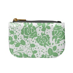 Floral Wallpaper Green Mini Coin Purses by ImpressiveMoments