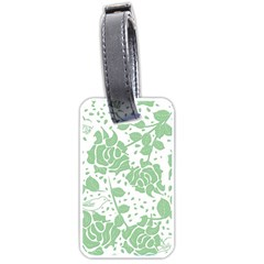 Floral Wallpaper Green Luggage Tags (Two Sides) by ImpressiveMoments