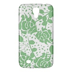 Floral Wallpaper Green Samsung Galaxy Mega 6 3  I9200 Hardshell Case by ImpressiveMoments