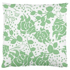 Floral Wallpaper Green Standard Flano Cushion Cases (Two Sides)  by ImpressiveMoments