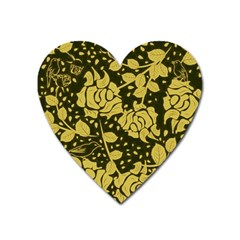 Floral Wallpaper Forest Heart Magnet by ImpressiveMoments