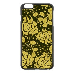 Floral Wallpaper Forest Apple Iphone 6 Plus Black Enamel Case by ImpressiveMoments