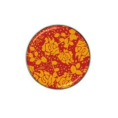 Floral Wallpaper Hot Red Hat Clip Ball Marker by ImpressiveMoments