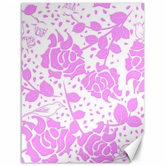 Floral Wallpaper Pink Canvas 18  X 24   by ImpressiveMoments