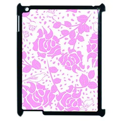 Floral Wallpaper Pink Apple Ipad 2 Case (black) by ImpressiveMoments