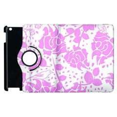 Floral Wallpaper Pink Apple Ipad 2 Flip 360 Case by ImpressiveMoments