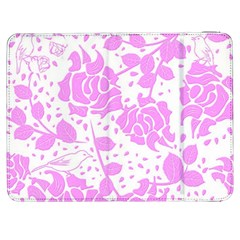 Floral Wallpaper Pink Samsung Galaxy Tab 7  P1000 Flip Case by ImpressiveMoments