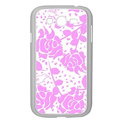 Floral Wallpaper Pink Samsung Galaxy Grand DUOS I9082 Case (White) by ImpressiveMoments