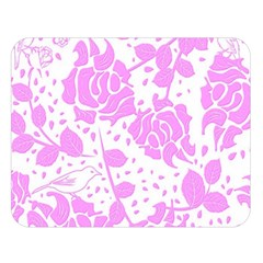 Floral Wallpaper Pink Double Sided Flano Blanket (large)  by ImpressiveMoments