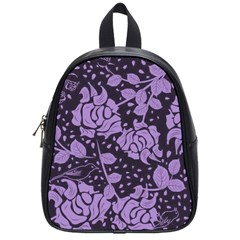 Floral Wallpaper Purple School Bags (small)  by ImpressiveMoments