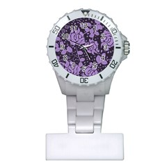 Floral Wallpaper Purple Nurses Watches by ImpressiveMoments
