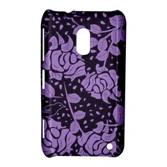 Floral Wallpaper Purple Nokia Lumia 620 by ImpressiveMoments