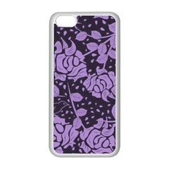 Floral Wallpaper Purple Apple Iphone 5c Seamless Case (white) by ImpressiveMoments