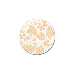 Floral Wallpaper Peach Golf Ball Marker (4 pack) by ImpressiveMoments
