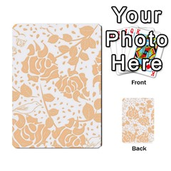 Floral Wallpaper Peach Multi Purpose Cards (rectangle)