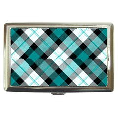 Smart Plaid Teal Cigarette Money Cases by ImpressiveMoments