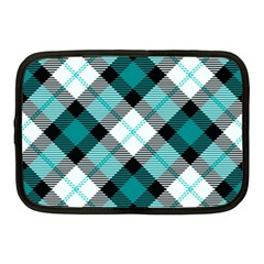 Smart Plaid Teal Netbook Case (medium)  by ImpressiveMoments