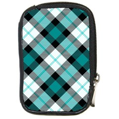 Smart Plaid Teal Compact Camera Cases by ImpressiveMoments